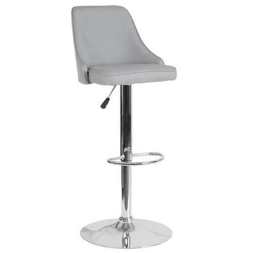 Our Trieste Contemporary Adjustable Height Barstool in Light Gray Fabric is on sale now.