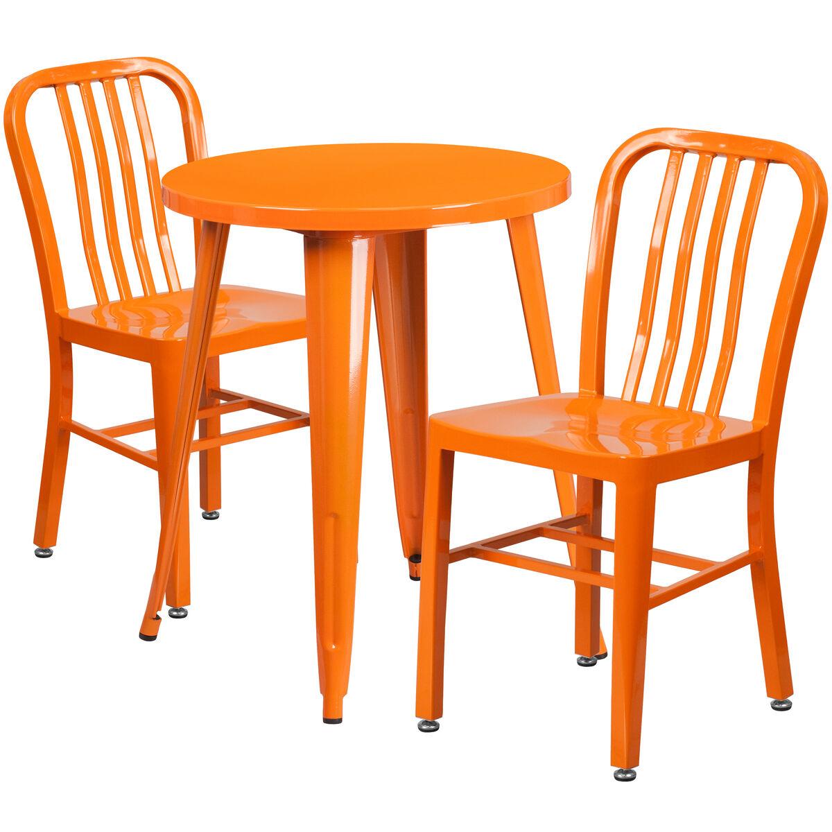 24rd orange metal table set ch 51080th 2 18vrt or gg bizchair com