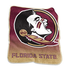 Florida State University Team Logo Raschel Throw