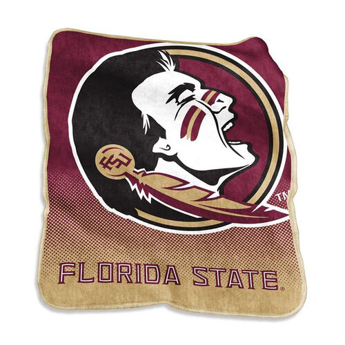 Our Florida State University Team Logo Raschel Throw is on sale now.
