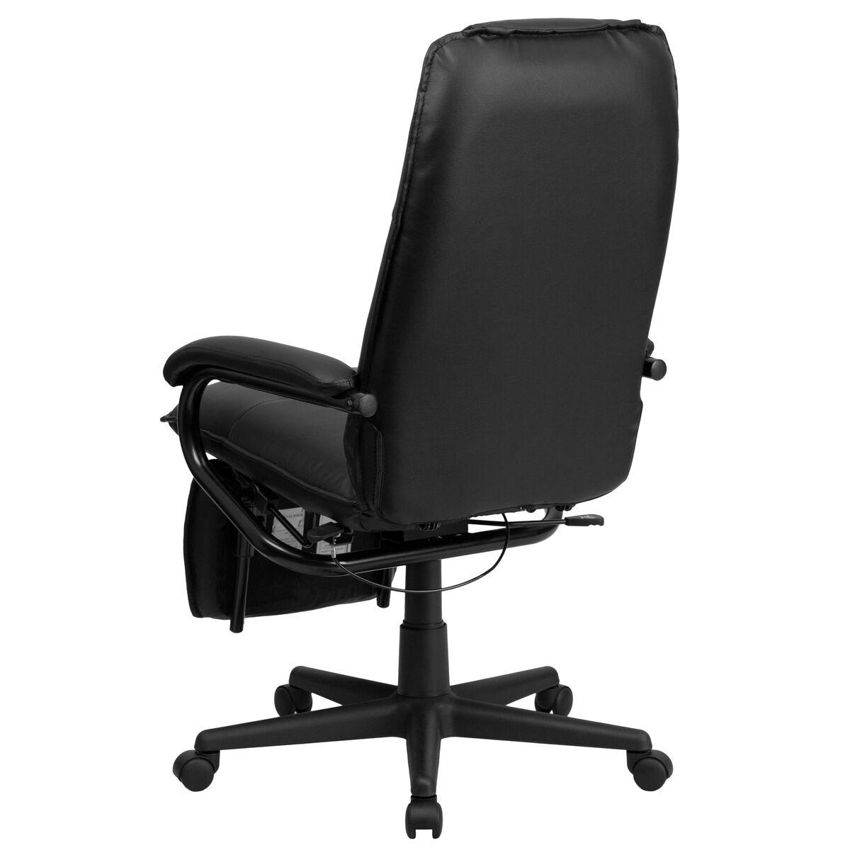 Black Reclining Leather Chair Bt 70172 Bk Gg Bizchair Com