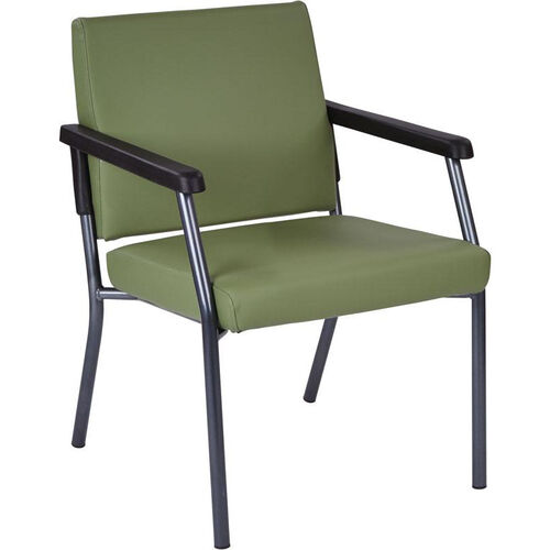 Our Work Smart Bariatric Big & Tall Guest Chair with 300 lb. Weight Capacity - Dillion Sage Antimicrobial Vinyl is on sale now.
