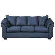 Signature Design by Ashley Darcy Sofa in Blue Microfiber