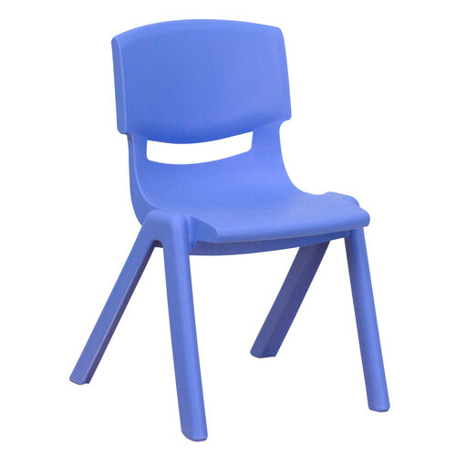 Our Blue Plastic Stackable School Chair with 12