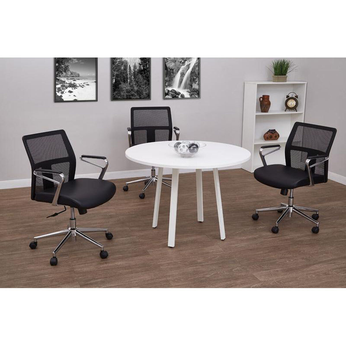 Pro Line II White Conference Table PRDRTWH Bizchaircom - White laminate conference table