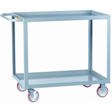 Welded Service Cart With 2 Lipped Shelves
