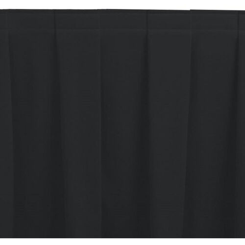 Wyndham 21 Foot Boxed Pleat Table Skirt with SnugTight™ Clips - Black