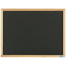 Economy Series Black Composition Chalkboard with Wood Frame - 18