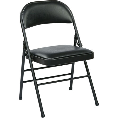 Our Work Smart Folding Chair with Vinyl Seat and Back - Set of 4 is on sale now.