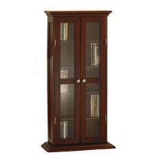 Antique Walnut CD/DVD Cabinet
