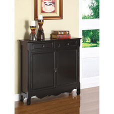 Slim Line Two Door Console - Black Matte