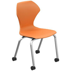 Apex Series Plastic Caster Chair with 16