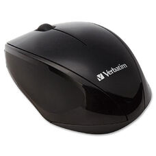 Verbatim Wireless Notebook Multi-Trac Blue LED Mouse - Blue Optical - Black - USB 2.0