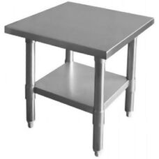 430 Stainless Steel Flat Top Worktable with Under Shelf - 35