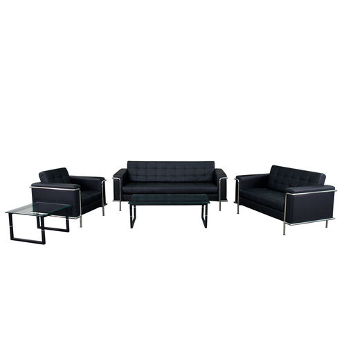 """Our HERCULES Lesley Series Reception Set in Black with <span style=""""color:#0000CD;"""">Free </span> Tables is on sale now."""