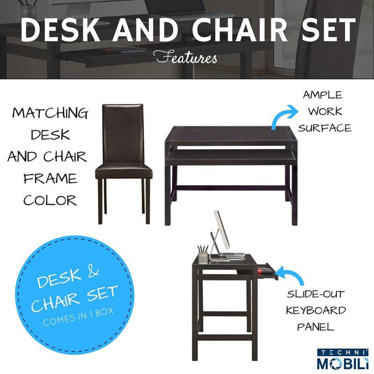 Matching Desk Chair Set Rta 3605st Wn Bizchair Com