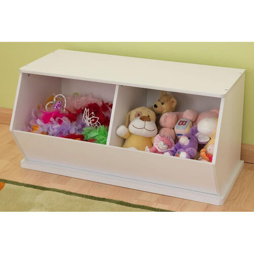 Our Kids Size Indoor Sturdy Open Double Storage Bins Unit - White is on sale now.