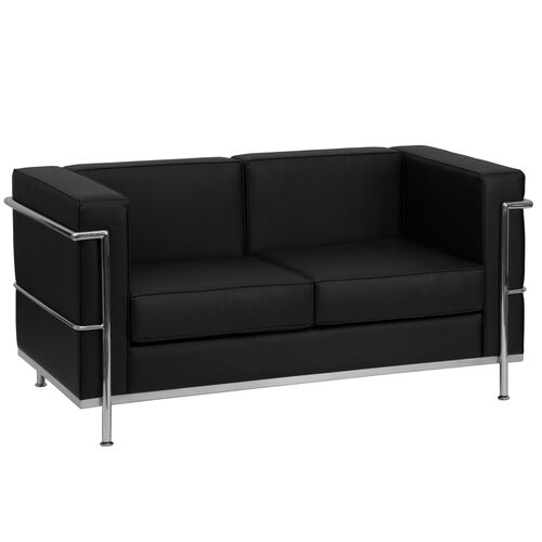 Our HERCULES Regal Series Contemporary Black LeatherSoft Loveseat with Encasing Frame is on sale now.