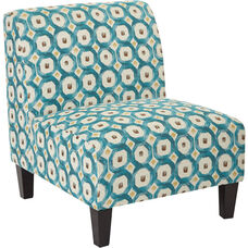 Ave Six Magnolia Chair - Geo Dot Teal