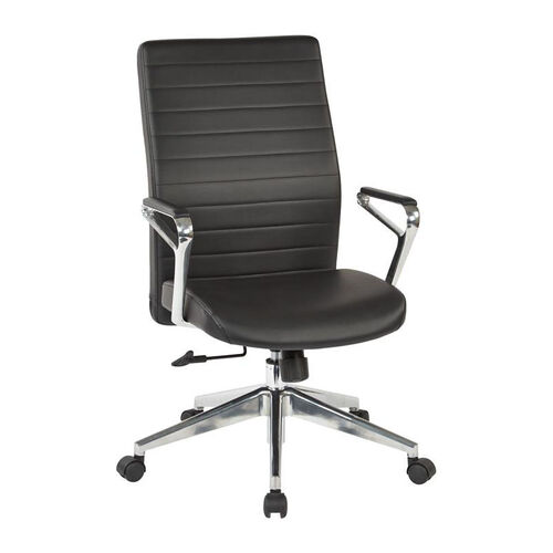 Our OSP Furniture Bonded Leather Managers Office Chair with Padded Polished Aluminum Arms and Base - Black is on sale now.