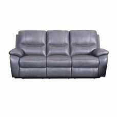 Carter Leather Match Power Sofa - Toby Gray