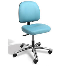 Dimension Small Back Desk Height Cleanroom ESD Chair - 2 Way Control - Black Vinyl