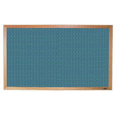 700 Series Tackboard with Wood Frame - Designer Fabric - 96