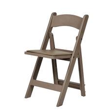 1000 lb. Max Sand Beige Resin Folding Chair