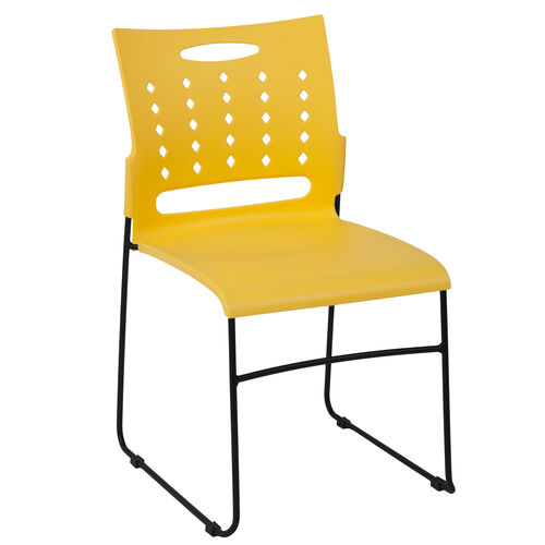 Our HERCULES Series 881 lb. Capacity Yellow Sled Base Stack Chair with Air-Vent Back is on sale now.
