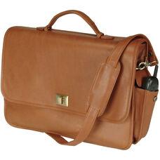 Executive Briefcase - Milano Top Grain Leather - Tan
