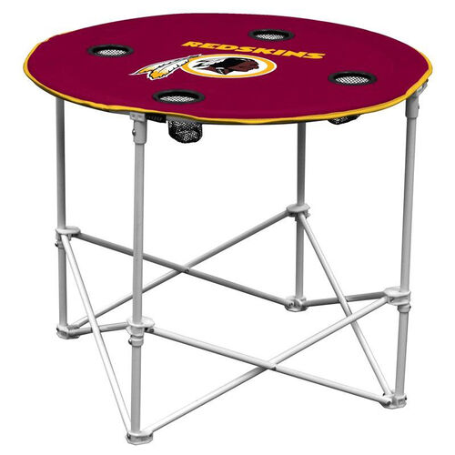 Washington Redskins Team Logo Round Folding Table