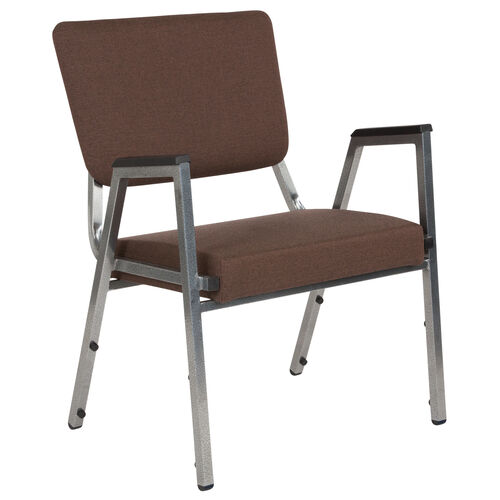 Our HERCULES Series 1500 lb. Rated Brown Antimicrobial Fabric Bariatric Medical Reception Arm Chair with 3/4 Panel Back is on sale now.