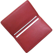 Business Card Case - Top Grain Nappa Leather - Red