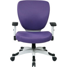 Space Pulsar Padded Mesh Seat and Back Managers Office Chair - Purple