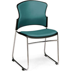 Multi-Use Stack Chair with Anti-Microbial and Anti-Bacterial Vinyl Seat and Back - Teal
