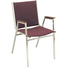 400 Series Stacking Square Steel Frame Hospitality Armchair with Full Back and 1