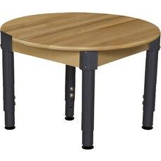 Solid Birch Hardwood Round Adjustable Height Children