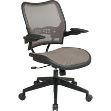 Space Deluxe Air Grid Back Swivel Task Chair with Cantilever Arms - Latte