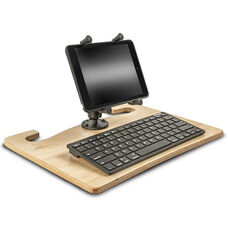 Wooden Wheelmate Extreme Ergonomic Travel Desk with Bluetooth Keyboard and X-Grip Mount for 7