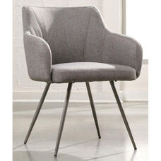 Harvey Park Fabric Upholstered Occasional Chair - Soft Gray