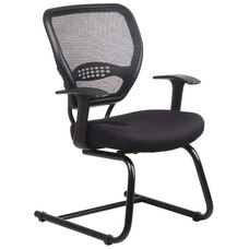 Space Air Grid Series Air Grid Back Visitors Chair with Mesh Seat - Black