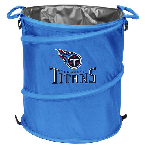 Our Tennessee Titans Team Logo Collapsible 3-in-1 Cooler Hamper Wastebasket is on sale now.
