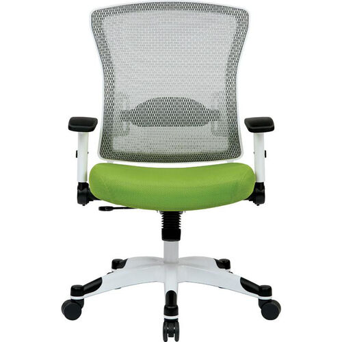 Our Space Pulsar Managers Office Chair with Mesh Padded Seat - Green with White Frame is on sale now.