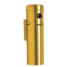 Wall Mounted Aluminum Cigarette Receptacle - Gold Finish