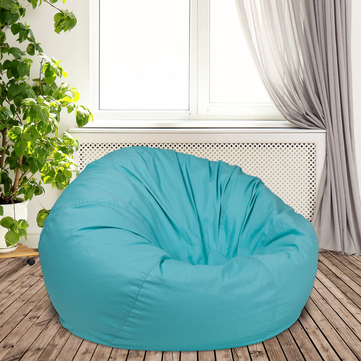 Remarkable Oversized Solid Mint Green Bean Bag Chair For Kids And Adults Andrewgaddart Wooden Chair Designs For Living Room Andrewgaddartcom