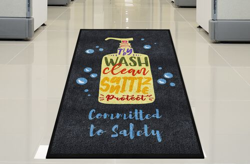 """""""Committed to Safety"""" Message Floor Mat - 59"""
