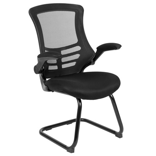 Our Mesh Sled Base Side Reception Chair with Flip-Up Arms is on sale now.