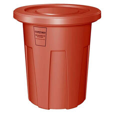 35 Gallon Cobra Food Grade/General Use Trash Can - Red