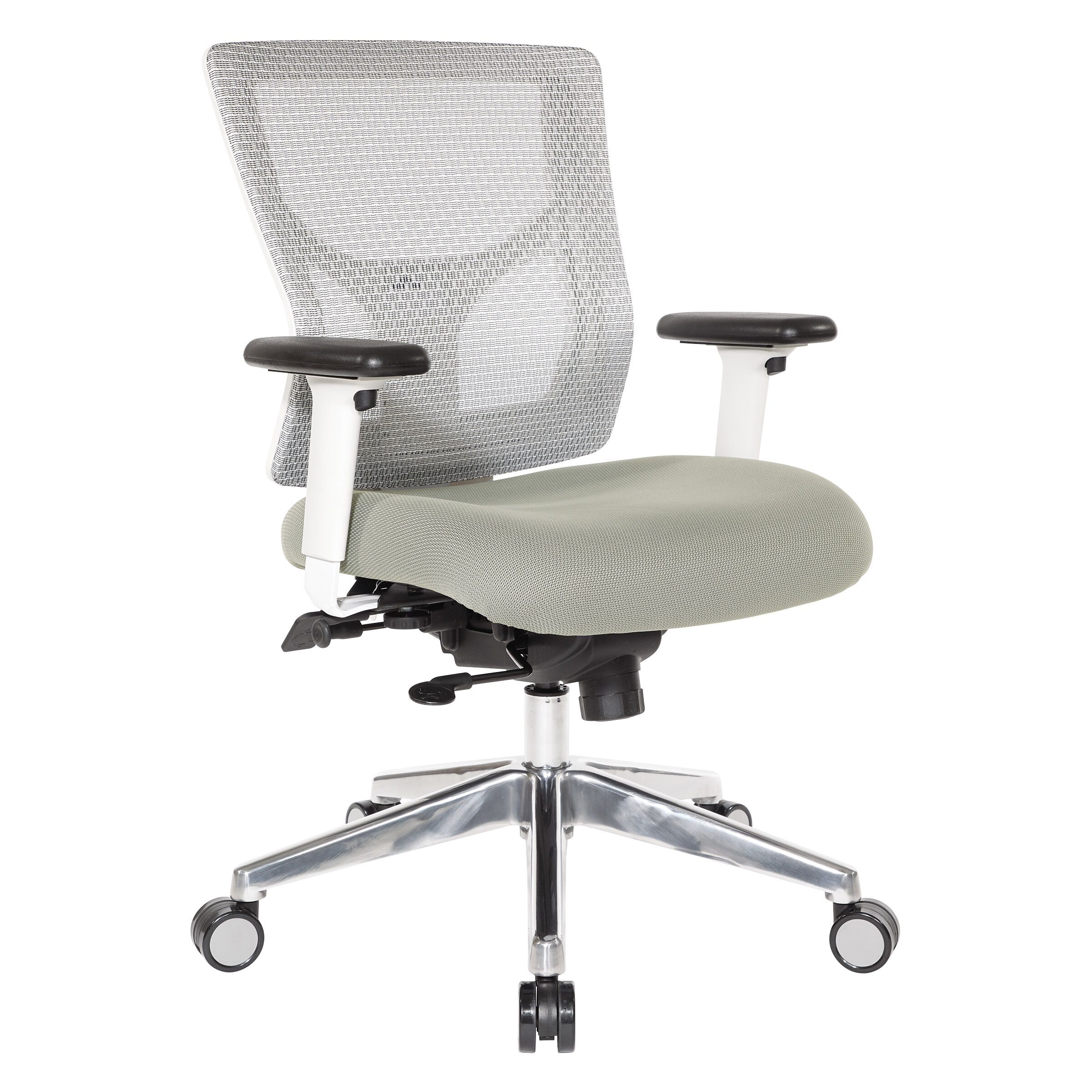 ... Our Pro Line II ProGrid White Mesh Mid Back Office Chair With 2 Way ...