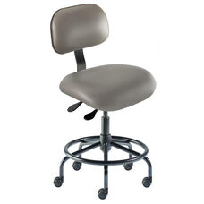 Quick Ship Eton Series Chair with Lumbar Support Backrest and Tubular Steel Base - Low Seat Height